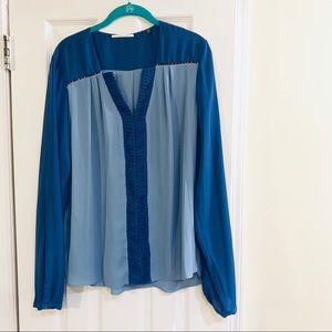 Tahari Light Blue Blouse